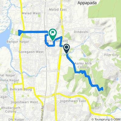 Moderate route in Mumbai
