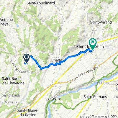 145 Allée de Meulot, Chatte to 1 Place de la Gare, Saint-Marcellin