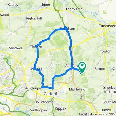 Lotherton Lane, Aberford to Lotherton Lane, Aberford