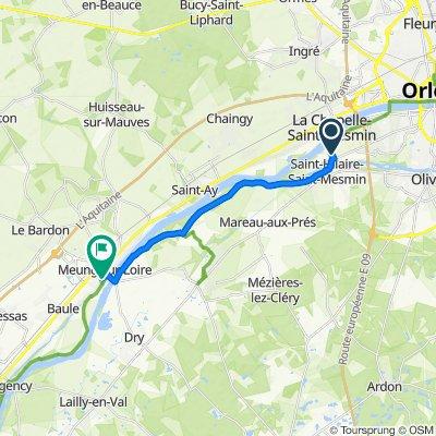 De 63 Allée des Pommiers, Saint-Pryvé-Saint-Mesmin à Chemin de la Fontaine, Meung-sur-Loire