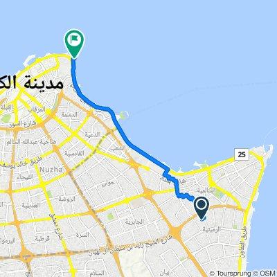Route from Street 101 10, Salmiya