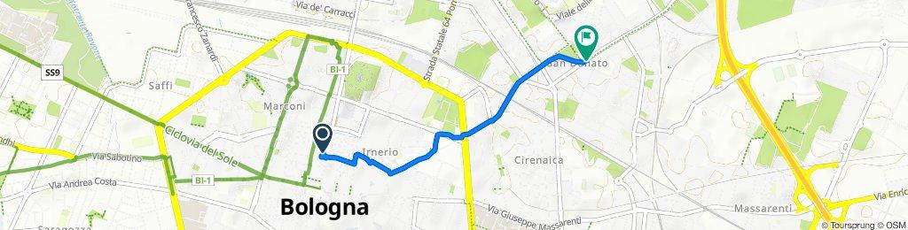 Da Via de' Corighi 1, Bologna a Via San Donato 65, Bologna