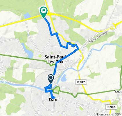 De 27 Avenue Saint-Vincent-de-Paul, Dax à 1349 Rue des Cibles, Saint-Paul-lès-Dax