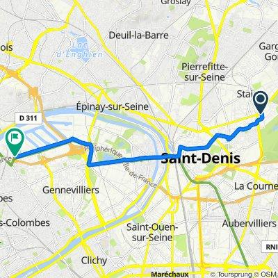Da 32 Rue Victor Renelle, Stains a Port Autonome de Paris, Genneviliers