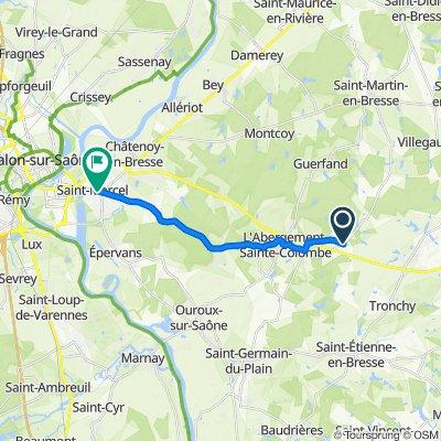 De 14A–20 Route de Saint-Martin-en-Bresse, L'Abergement-Sainte-Colombe à 67 Grande Rue, Saint-Marcel