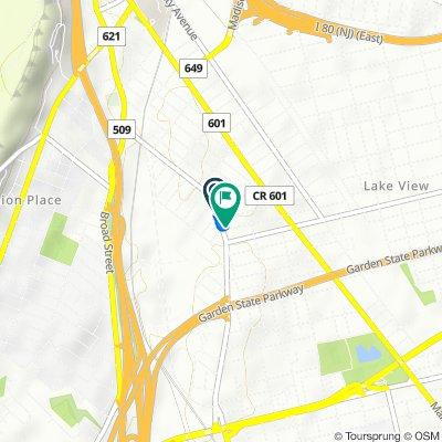 373 Hazel St, Clifton to 7 Knickerbocker Ave, Paterson