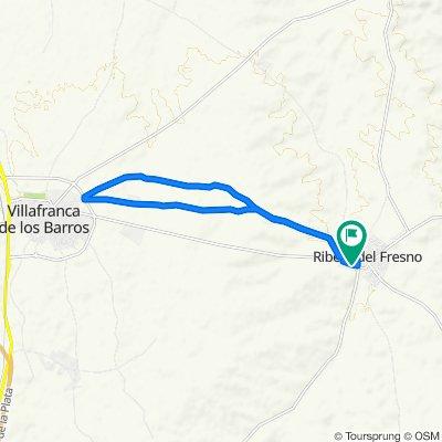 De Carretera Villafranca, 26, Ribera del Fresno a Carretera Villafranca, 26, Ribera del Fresno