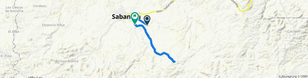 De Unnamed Road a Unnamed Road, Sabaneta