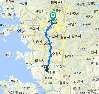 Hyangnam-eup 1148-1, Hwaseong-si to Namsandong 2(i)-ga 10-5