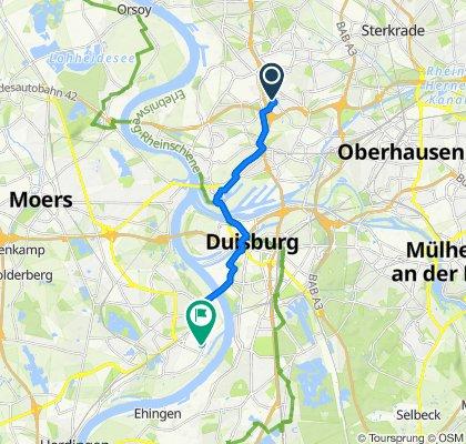 HambornerAltmarkt 1, Duisburg nach Antwerpener Straße 1, Duisburg