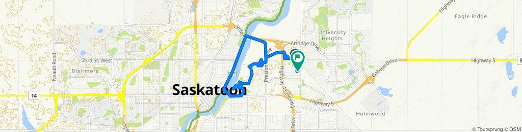 120 113th St W, Saskatoon to 111 111th St W, Saskatoon