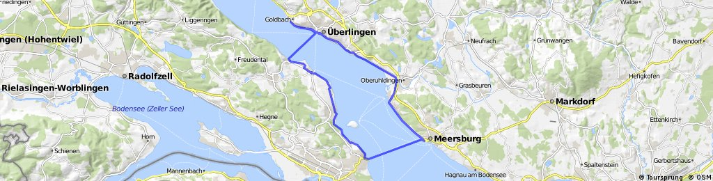 Map Of Uberlingen Germany.Uberlingen Meersburg Konstanz Wallhausen Bikemap Your Bike Routes