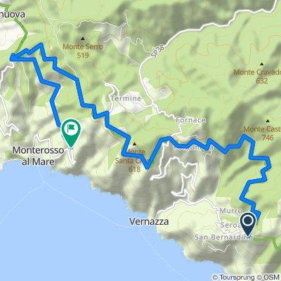 Da Località Fornacchi 2bis, Vernazza a Località Begasti, Monterosso al Mare