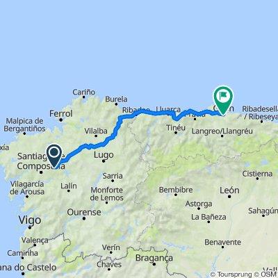 De Carretera Santiago-Guntín, O Pino à Carretera de Ceares, 84, Gijón