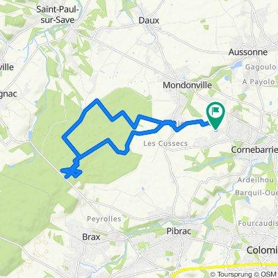 De 54 Chemin de Cordelle, Cornebarrieu à 54 Chemin de Cordelle, Cornebarrieu