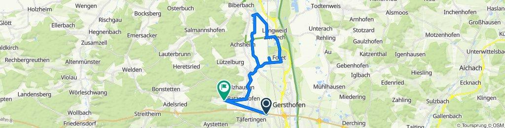 E52, Gersthofen nach Rettenberger Straße 3, Gersthofen
