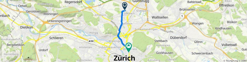 Katzenbachstrasse 215, Zürich to Culmannstrasse 52, Zürich