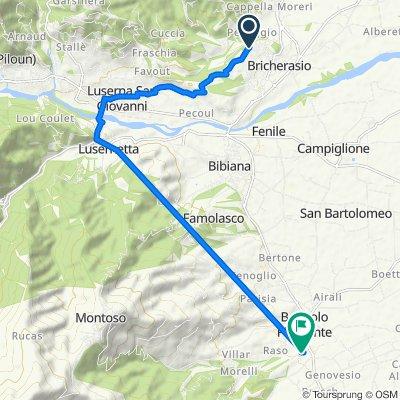 Da Strada Torretti 31, Bricherasio a Via Castello 8, Bagnolo Piemonte