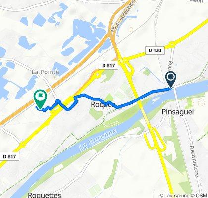 Itinéraire à partir de 2 Rue des Pyrénées, Portet-sur-Garonne