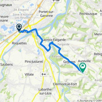 Itinéraire vers 12 Clos de Poumarol, Aureville
