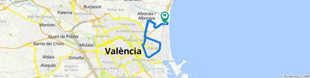 De Partida Miracle, 91, Alboraya a Calle de la Patacona, 4, Alboraya