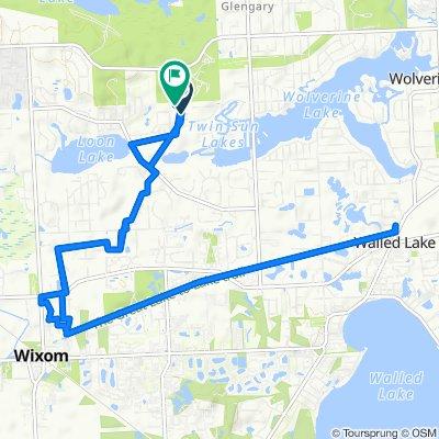 2140 Qualla Ave, Wixom to 2501 E Nalone, Wixom