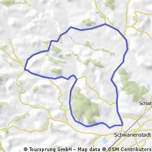 Feierabendtour Atzbach - Niederthalheim - Oberndorf - Höck - Weigensham - Atzbach