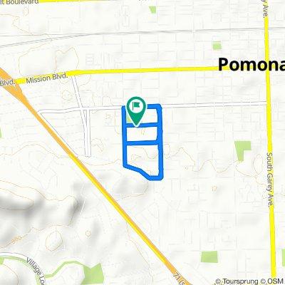 1224 W 11th St, Pomona to 1236 W 11th St, Pomona