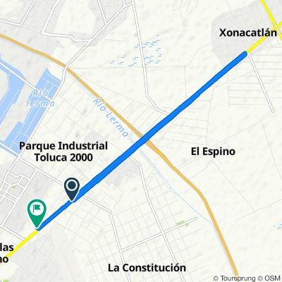 De Carretera Vía José López Portillo, Toluca de Lerdo a Calle Francisco Villa 12–6313, Toluca de Lerdo