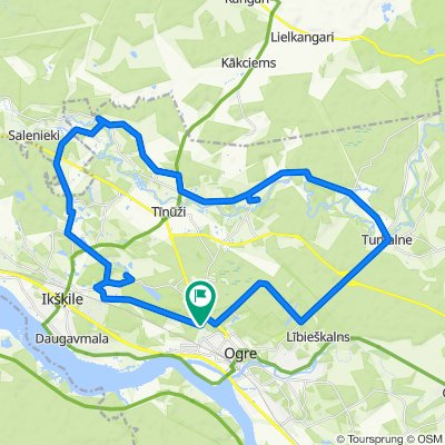 40km gravel recovery route