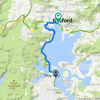 Route to 7–13 Riou Street, Gosford