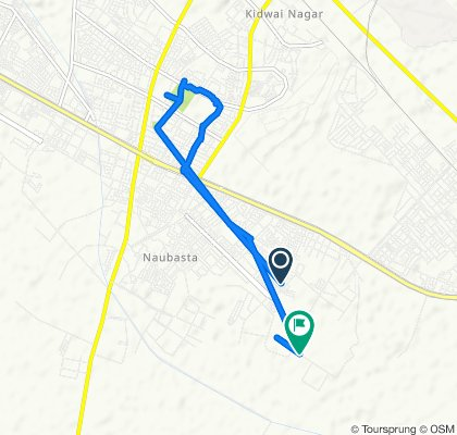 Route to Unnamed Road, Kanpur