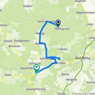 Route nach Schloßstraße 1D, Wiesenburg/Mark