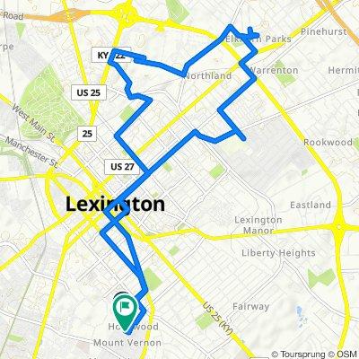 611 Beaumont Ave, Lexington to 727 Tremont Ave, Lexington