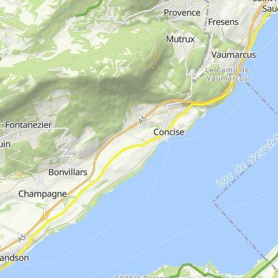 Avenue du Lac 28, Saint-Aubin-Sauges nach Chemin du Lac 39, Grandson
