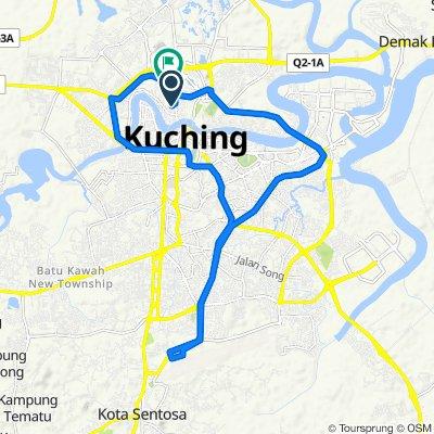 Jalan Hashim Jaafar 154, Kuching to Jalan Astana 8, Kuching