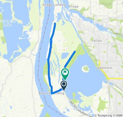 Route from 5599 NW Lower River Rd, Vancouver