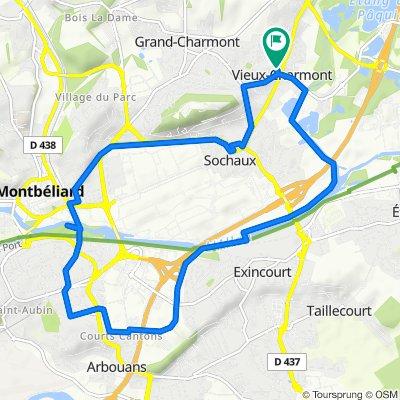 De Rue du Coinot 6, Vieux-Charmont à Rue du Coinot 8, Vieux-Charmont
