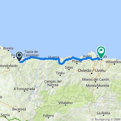 Itinéraire à partir de LU-133, Ribadeo