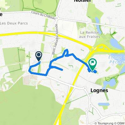 Itinéraire vers 4 Cours du Buisson, Lognes