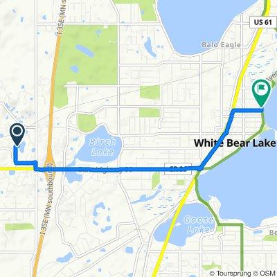 4616 Allendale Dr, Saint Paul to 4921 Lake Ave, White Bear Lake