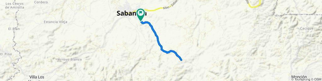 De Unnamed Road, Sabaneta a Unnamed Road, Sabaneta