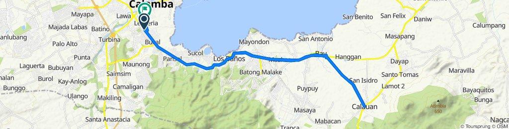 Route to Lecheria Road 233, Calamba