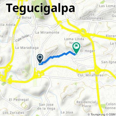 De Unnamed Road, Tegucigalpa a Colonia El Hogar, Tegucigalpa