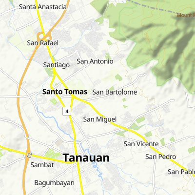 Route to Santo Tomas - Lipa Road