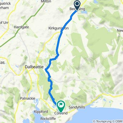 Route to A710, Colvend, Dalbeattie