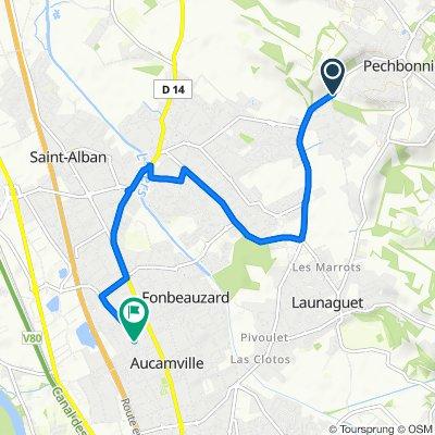 Itinéraire vers Chemin des Carrières 14, Aucamville