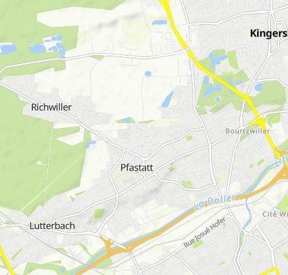 De 21 Rue de Dornach, Pfastatt à 169 Rue de Richwiller, Kingersheim