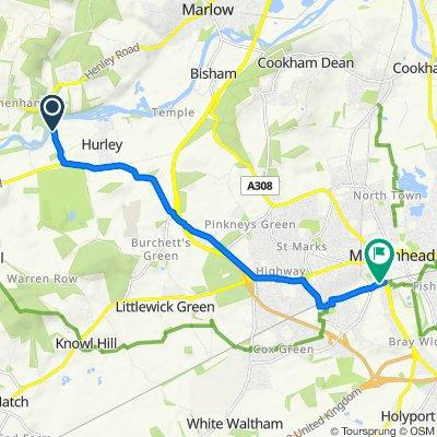 Thames Path, Hurley, Maidenhead to Grenfell Walk, Maidenhead