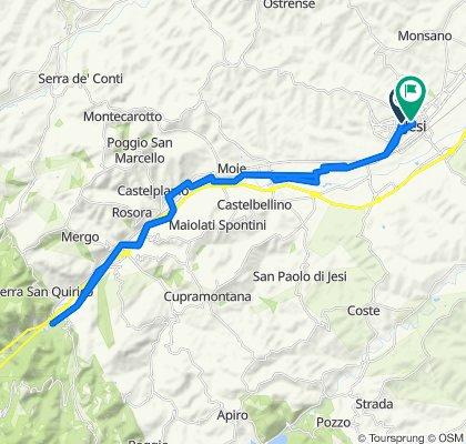 Da Via Luigi Mancini 12–14/A, Jesi a Via Antonio Gramsci 17, Jesi